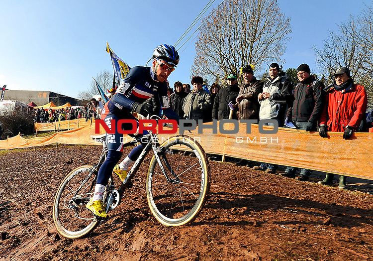 French VENTURINI Clment in action during the junior  Cyclo Cross World Championships in Sankt-Wendel, Germany. Saterday Jan. 29, 2011. ( Foto © nph / / Laurent Dubrule )