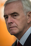 © Joel Goodman - 07973 332324 . 25/09/2016 . Liverpool , UK . Shadow Chancellor JOHN MCDONNELL visits Make Liverpool , an open access workshop and maker space , free to use for the people of North Liverpool , on Trafalgar Dock , during the first day of the Labour Party Conference . Photo credit : Joel Goodman