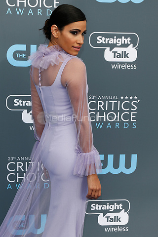 Tiffany Smith attends the 23rd Annual Critics' Choice Awards at Barker Hangar in Santa Monica, Los Angeles, USA, on 11 January 2018. Photo: Hubert Boesl - NO WIRE SERVICE - Photo: Hubert Boesl/dpa /MediaPunch ***FOR USA ONLY***