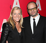 Mary McCann & Chris Bauer attending the Opening Night After Party for the Atlantic Theater Company's 'What Rhymes with America' at Moran's in New York on December 12, 2012