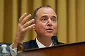 United States Representative Adam Schiff (Democrat of California), chairman, questions former Trump-Russia special counsel Robert Mueller who is giving testimony before the United States House Permanent Select Committee on Intelligence on the results of his investigation on Capitol Hill in Washington, DC on Wednesday, July 24, 2019.<br /> Credit: Stefani Reynolds / CNP<br /> (RESTRICTION: NO New York or New Jersey Newspapers or newspapers within a 75 mile radius of New York City)