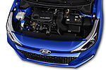 Car stock 2019 Hyundai i20 Twist 5 Door Hatchback engine high angle detail view