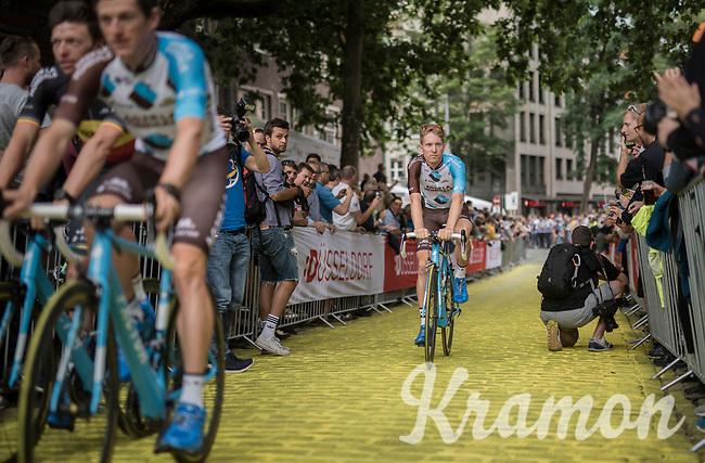 "Jan Bakelants (BEL/AG2R-LaMondiale) on the Yellow Brick Road<br /> <br /> ""Le Grand Départ"" <br /> 104th Tour de France 2017 <br /> Team Presentation in Düsseldorf/Germany"