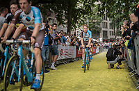 Jan Bakelants (BEL/AG2R-LaMondiale) on the Yellow Brick Road<br /> <br /> &quot;Le Grand D&eacute;part&quot; <br /> 104th Tour de France 2017 <br /> Team Presentation in D&uuml;sseldorf/Germany