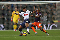 Mousa Dembele of Tottenham Hotspur comes under pressure from Fernandinho of Manchester City during Tottenham Hotspur vs Manchester City, Premier League Football at Wembley Stadium on 29th October 2018