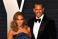 LOS ANGELES, CA - FEBRUARY 24: Jennifer Lopez and Alex Rodriguez at the Vanity Fair Oscar Party on February 24, 2019 in Los Angeles, California.<br /> CAP/MPI/IS<br /> &copy;IS/MPI/Capital Pictures