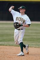 March 17, 2010:  Infielder Jackson Seaman (13) of North Dakota State University Bison vs. Long Island University at Lake Myrtle Park in Auburndale, FL.  Photo By Mike Janes/Four Seam Images