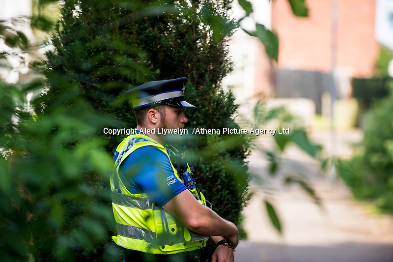 Monday 19 June 2017<br /> Pictured: Police outside the house in Cardiff <br /> Re: Darren Osborne, who drove the vehicle which drove into worshippers near a north London mosque lived at an address in Cardiff, South Wales, UK.