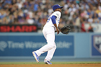 05/20/12 Los Angeles Dodgers shortstop Dee Gordon #9 during an MLB game between the St Louis Cardinals and the Los Angeles Dodgers played at Dodger Stadium. The Dodgers defeated the Cardinals 6-5.