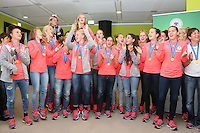 26.08.2014: Empfang der U-20 Weltmeisterinnen in Frankfurt