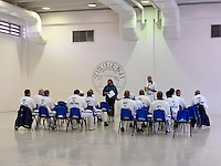 A meeting of the committee of 'lifers' (men with a life sentence) in Georgia State Prison, a medium security prison that opened in 1937 and holds 1,500 inmates.