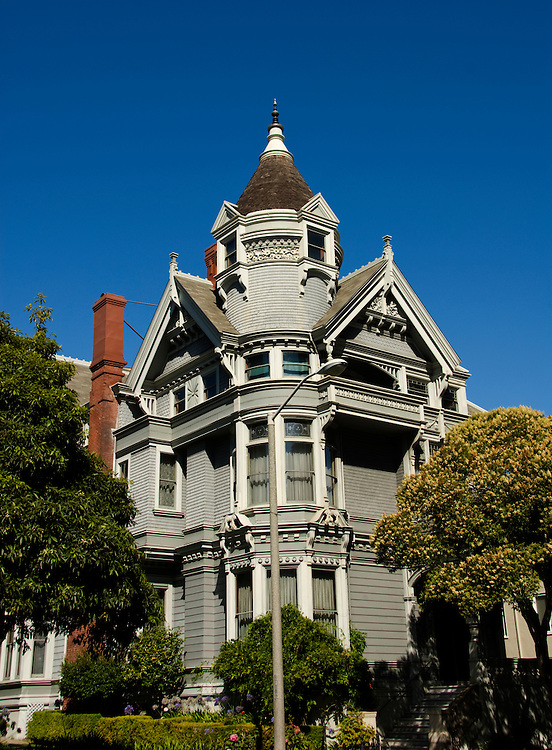 California, San Francisco: The Haas-Lilienthal House, a grand Victorian..Photo #: 22-casanf83808.Photo © Lee Foster 2008