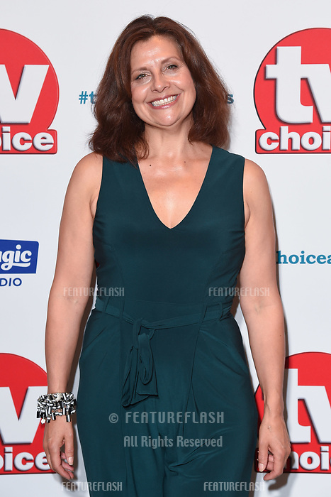 LONDON, UK. September 10, 2018: Rebecca Front at the TV Choice Awards 2018 at the Dorchester Hotel, London.<br /> Picture: Steve Vas/Featureflash