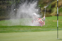 Ceilia Barquin Arozamena (a)(ESP) hits from the trap on 10 during round 2 of the U.S. Women's Open Championship, Shoal Creek Country Club, at Birmingham, Alabama, USA. 6/1/2018.<br /> Picture: Golffile | Ken Murray<br /> <br /> All photo usage must carry mandatory copyright credit (&copy; Golffile | Ken Murray)