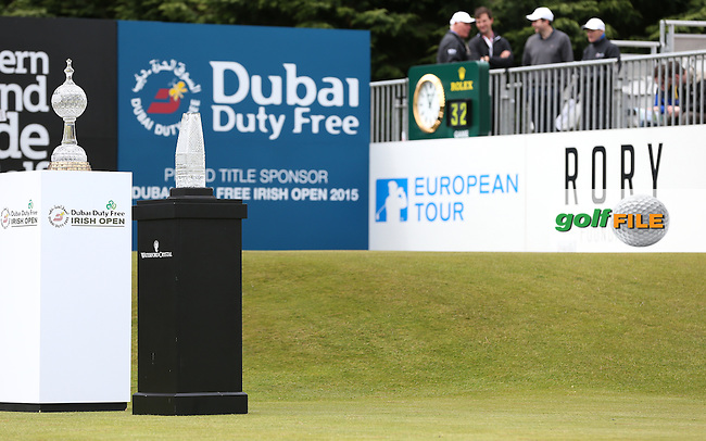 View of the first tee during Round Three of the 2015 Dubai Duty Free Irish Open Hosted by The Rory Foundation at Royal County Down Golf Club, Newcastle County Down, Northern Ireland. 30/05/2015. Picture David Lloyd | www.golffile.ie