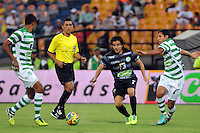 MEDELLIN -COLOMBIA-19-01-2014. Sherman Cardenas # 7. Partido amistoso entre los equipos Atletico Nacional  vs Independiente Medellin  conmemorando el dia del futbol antioque–o jugado en el estadio Atanasio Girardot . Sherman Cardenas number 7. Friendly match between teams Atletico Nacional  vs Independiente Medellin  commemorating the day of football played in Antioquia Atanasio Girardot stadium : VizzorImage / Luis Rios / Stringer