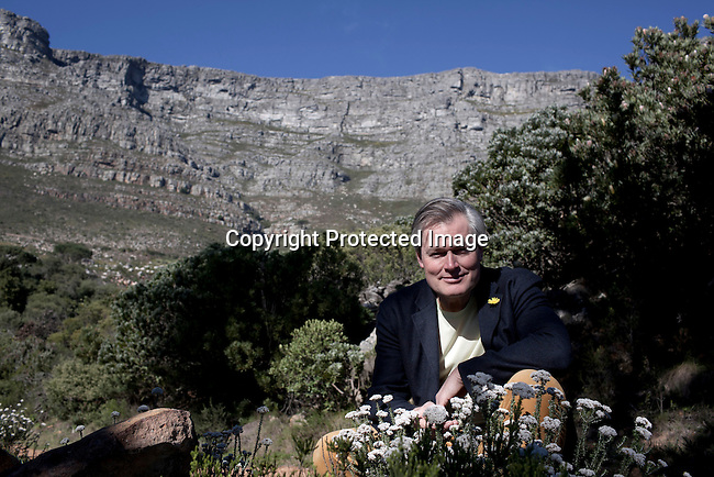 CAPE TOWN, SOUTH AFRICA - AUGUST 2: Gunter Pauli, an entrepreneur, lecturer and commentator in culture, science, politics, sustainability and the environment photographed on August 2, 2012, in Cape Town, South Africa. He wrote the book The Blue Economy, with the twin aims of stimulating entrepreneurship while setting up new and higher standards towards sustainability, where the good for our health and the environment is cheap. (Photo by Per-Anders Pettersson)