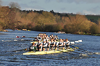 049 .KCH-Marsden .J18A.8+ .Kings Sch Chester. Wallingford Head of the River. Sunday 27 November 2011. 4250 metres upstream on the Thames from Moulsford railway bridge to Oxford Universitiy's Fleming Boathouse in Wallingford. Event run by Wallingford Rowing Club..