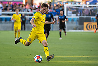 San Jose, CA - Saturday August 03, 2019: Luis Argudo #2 in a Major League Soccer (MLS) match between the San Jose Earthquakes and the Columbus Crew at Avaya Stadium.