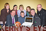 Launching the new Kerry basketball website at the KDYS Killarney on Thursday night front row l-r:Bernard O'Byrne CEO basketball Ireland, Pa Carey and Con Sheehan. Back row: Marie Horgan, Elaine Clifford, Therese Wedel, Marian kennelly, Marc Jones..