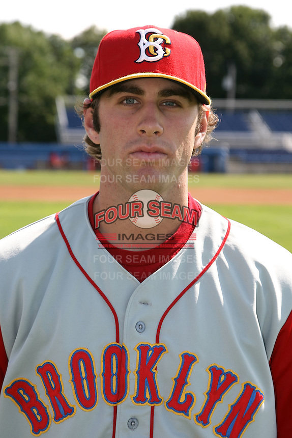 August 6, 2009:  Nick Giarraputo of the Brooklyn Cyclones during a game at Dwyer Stadium in Batavia, NY.  The Cyclones are the Short-Season Class-A affiliate of the New York Mets.  Photo By Mike Janes/Four Seam Images