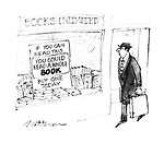 """(Sign in bookshop reads: """"If you can read this you could read a whole book. Buy one today"""")"""