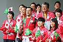 Japan Delegation (JPN), <br /> AUGUST 2, 2016 : <br /> Welcome Ceremony for the Japanese delegation <br /> during the Rio 2016 Olympic Games <br /> at Athlete's Village, in Rio de Janeiro, Brazil. <br /> (Photo by Yohei Osada/AFLO SPORT)