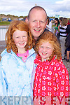 Aine, Padraig and Roise McHugh pictured at Glenbeigh Races at Rossbeigh Beach on Sunday.