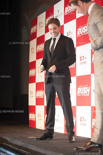 January 30, 2014 : Tokyo, Japan - Daniel Bruhl appears at the Japan Premiere for RUSH by Ron Howard in the Yurakucho Marion, Tokyo, Japan. (Photo by Yumeto Yamazaki/NipponNews)