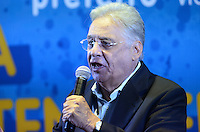 ATENÇÃO EDITOR: FOTO EMBARGADA PARA VEÍCULOS INTERNACIONAIS. SAO PAULO, 18 DE SETEMBRO DE 2012 - ELEICOES 2012 SERRA - o ex presidente da Republica Fernando Henrique Cardoso durante encontro com artistas e intelectuais no Cinema da Gazeta, Avenida Paulista, regiao central, na tarde desta terca feira, regiao central da capital. FOTO: ALEXANDRE MOREIRA - BRAZIL PHOTO PRESS