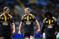 Bradley Davies of Wasps rallies his fellow forwards. European Rugby Champions Cup quarter final, between Wasps and Exeter Chiefs on April 9, 2016 at the Ricoh Arena in Coventry, England. Photo by: Patrick Khachfe / JMP