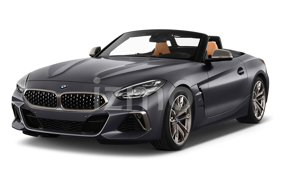 2019 BMW Z4 M-Performance 2 Door Convertible Angular Front stock photos of front three quarter view