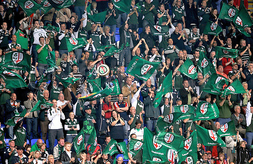 09.10.2010. Heineken Cup London Irish vs Munster  Round 1at Madejski Stadium, Reading, England. London Irish supporters enjoy the 23-17 win against Munster.