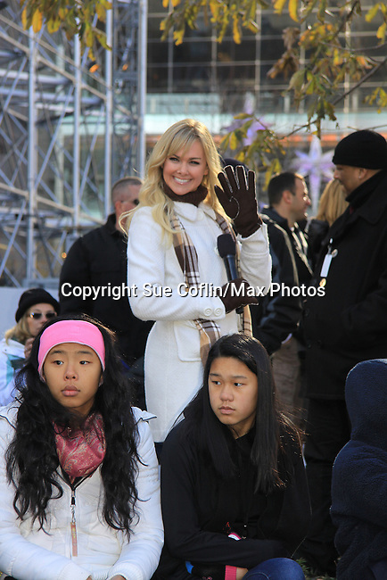 On-the-street reporter Guiding Light, Broadway and Country Music Star Laura Bell Bundy who reports and interacts with the kids for the second consecutive year for the CBS Thanksgiving Day Parade on November 22, 2012 during the Macy's parade with Broadway performances and interviews in New York City, New York.  (Photo by Sue Coflin/Max Photos)