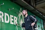 02.11.2019, wohninvest WESERSTADION, Bremen, GER, 1.FBL, Werder Bremen vs SC Freiburg<br /> <br /> DFL REGULATIONS PROHIBIT ANY USE OF PHOTOGRAPHS AS IMAGE SEQUENCES AND/OR QUASI-VIDEO.<br /> <br /> im Bild / picture shows<br /> Jerome Gondorf (SC Freiburg #20) bei Ankunft Mannschaftsbus am Stadion, <br /> <br /> Foto © nordphoto / Ewert