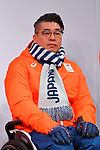 Kazuhiro Takahashi, <br /> NOVEMBER 1, 2017 : <br /> A press conference about presentation of Japan national team official sportswear <br /> for the 2018 PyeongChang Winter Olympic and Paralympic Games, in Tokyo, Japan. <br /> (Photo by Naoki Nishimura/AFLO)