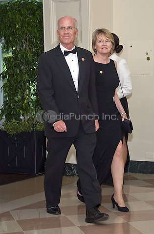 United States Representative Peter Welch( Democrat of Vermont) and Margaret Cheney arrive for the State Dinner honoring Prime Minister Lee Hsien Loong of the Republic of Singapore at the White House in Washington, DC on Tuesday, August 2, 2016.<br /> Credit: Ron Sachs / Pool via CNP/MediaPunch
