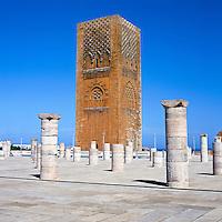 Morocco, Rabat: Hassan Tower | Marokko, Rabat: Der Hassan-Turm ist das unvollendet gebliebene Minarett der ihrerseits unvollendeten Grossen Moschee