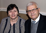 WATERBURY CT. 26 January 2018-012718SV13-Fatima and Trifon Bejler of Wolcott attend the &quot;Year of Skanderbeg,&quot; celebration in Waterbury Friday. The two Waterbury mosques and community centers were celebrating the &quot;Year of Skanderbeg,&quot; honoring the Albanian national hero and founder of their national identity.<br /> Steven Valenti Republican-American