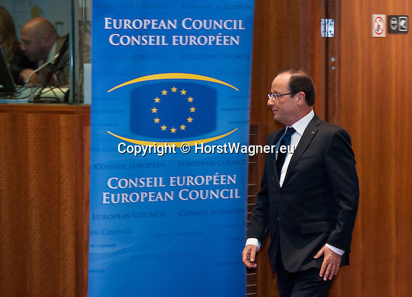 Brussels-Belgium - October 19, 2012 -- European Council, EU-summit meeting of Heads of State / Government; here, Francois (François) HOLLANDE, President of France -- Photo: © HorstWagner.eu