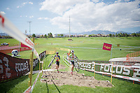 Sven Nys (BEL/Crelan-AADrinks) &amp; Sven Vanthourenhout (BEL/Crelan-AADrinks) check out the <br /> Cross Vegas 2014 course for the very first time (1 day ahead of the race)