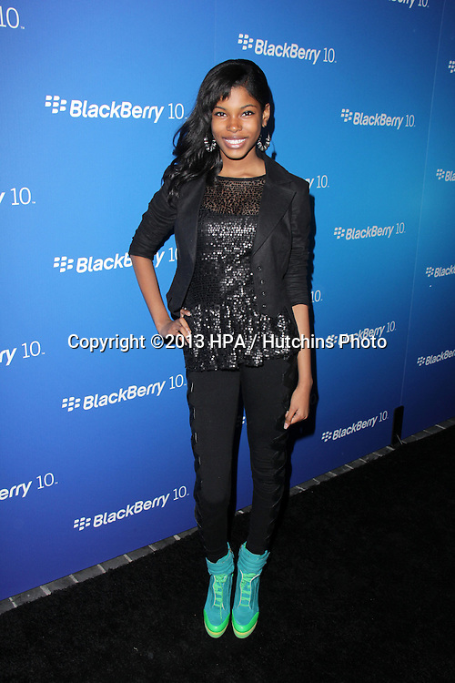 LOS ANGELES - MAR 20:  Diamond White arrives at the US launch of the Blackberry Z10 Smartphone at the Cecconi's on March 20, 2013 in West Hollywood, CA