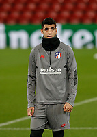 10th March 2020; Anfield, Liverpool, Merseyside, England; UEFA Champions League, Liverpool versus Atletico Madrid, Atletico training; Alvaro Morata of Atletico Madrid during today's open training session at Anfield ahead of tomorrow's Champions League match against Liverpool