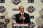 16 November 2007: MLS Commissioner Don Garber held his annual Commissioner's Press Conference and State of the League Address at the National Press Club in Washington, DC two days before MLS Cup 2007, Major League Soccer's championship game.