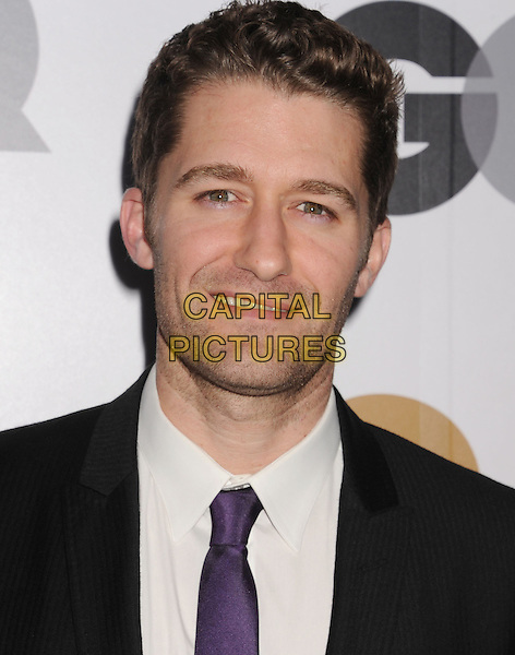 Matthew Morrison.Arriving at the GQ Men Of The Year Party at Chateau Marmont Hotel in Los Angeles, California, USA..November 13th, 2012.headshot portrait white shirt purple tie black suit.CAP/ROT/TM.©Tony Michaels/Roth Stock/Capital Pictures
