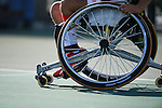 General view, <br /> SEPTEMBER 12, 2016 - Wheelchair Tennis : <br /> Men's Singles Shingo Kunieda 2-0 Shunjiang Dong <br /> at Olympic Tennis Centre<br /> during the Rio 2016 Paralympic Games in Rio de Janeiro, Brazil.<br /> (Photo by AFLO SPORT)