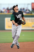 June 17th 2008:  Jonathan Greene of the Clinton Lumberkings, Class-A affiliate of the Texas Rangers, during the Midwest League All-Star Game at Dow Diamond in Midland, MI.  Photo by:  Mike Janes/Four Seam Images