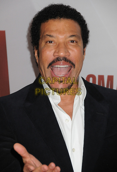 Lionel Richie.The 45th Annual CMA Awards, Country Music's Biggest Night, held at Bridgestone Arena, Nashville, Tennessee, USA..November 9th, 2011.headshot portrait black suit jacket white shirt goatee facial hair mouth open.CAP/ADM/BP.©Byron Purvis/AdMedia/Capital Pictures.
