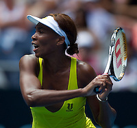 Venus Williams (USA) (6) against  Sybille Bammer (AUT) in the Second Round of the Womens Singles. Williams beat Bammer 6-2 7-5..International Tennis - Australian Open Tennis - Thur 21 Jan 2010 - Melbourne Park - Melbourne - Australia ..© Frey - AMN Images, 1st Floor, Barry House, 20-22 Worple Road, London, SW19 4DH.Tel - +44 20 8947 0100.mfrey@advantagemedianet.com