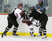 John Clark (Army - 5) dumps Austin Mayer (Colgate - 19) - The host Colgate University Raiders defeated the Army Black Knights 3-1 in the first Cape Cod Classic at the Hyannis Youth and Community Center in Hyannis, MA.